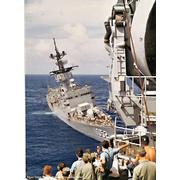 Under tow with USS Chicago