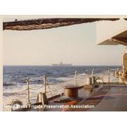 USS America from fantail Med 73-74