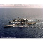7 July 1983, with USS New Jersey (BB-62) and USNS Mispillion (TAO-105)