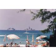 A view of the Bob E from Patong Beach, Thailand during the last West-Pac.