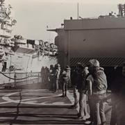 UnRep with USS Ranger (CV-61) during WestPac '79 (© 1979 James Pluth)