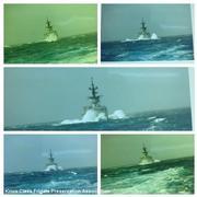 USS Ouellet taken from USS Cook