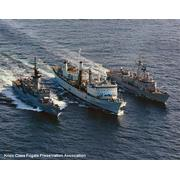 With HMCS Preserver (AOR-510) and USS Clark (FFG-11) (© CPT Craig Vance)