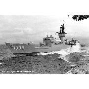 05 September 1988: coming alongside Forrestal (CV-59)