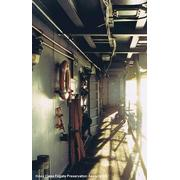 USS COOK FF-1083: Starboard side aft looking forward.