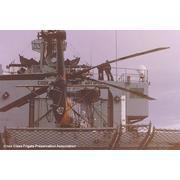 USS COOK FF-1083: away the flight team!