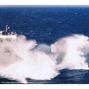 USS COOK FF-1083: haze grey & underway
