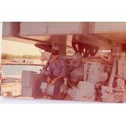 Sonny Spade sitting on the BPDSMS launcher in 1975 or 76.