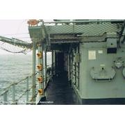 USS COOK FF-1083: Port side aft looking forward.