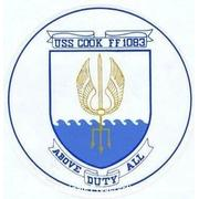 USS COOK ship's seal