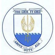 USS COOK ship's seal