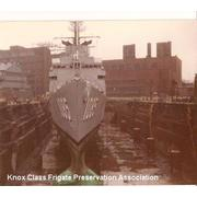 in dry dock, Brooklyn naval ship yard 1984