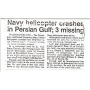 Sad day for all. 1988 deployment loss of helo
