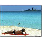 Ex-USS Pharris, now enjoying Mexico's beach views as the Guadalupe Victoria (F-213)