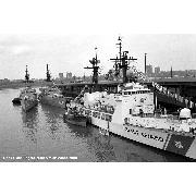 4 May 1989: Fleet Week, NY. With W.S. Sims (FF-1059) and USCGC Hamilton (WHEC-715)